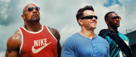 Pain & Gain: Paul Doyle (Dwayne Johnson), Daniel Lugo (Mark Wahlberg) and  Adrian Doorbal (Anthony Mackie)