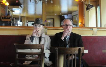 Lindsay Duncan as Meg Burrows and Jim Broadbent as Nick Burrows in Le Week-End