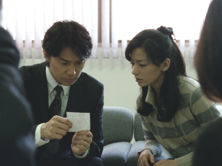 Masaharu Fukuyama as Ryota Nonomiya and Machiko Ono and Midori Nonomiya in Like Father, Like Son
