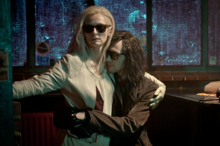 Tilda Swinton as Eve and Tom Hiddleston as Adam in Only Lovers Left Alive