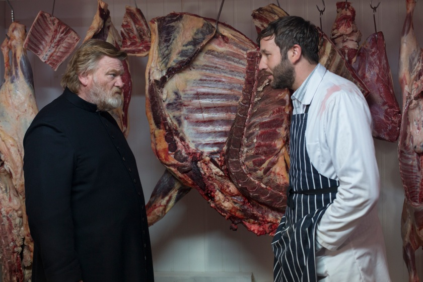 Brendan Gleeson as Father James and Chris O'Dowd as Jack Brennan in Calvary