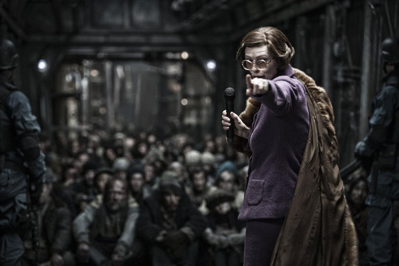 Tilda Swinton as Mason in  Snowpiercer