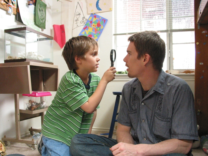 Ellar Coltrane asMason and Ethan Hawke as his father in Boyhood