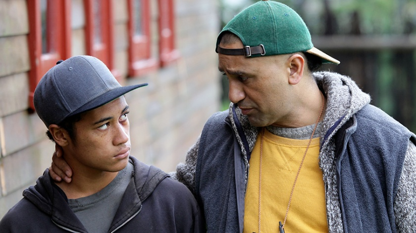 James Rolleston as Mana and Cliff Curtis as Genesis in The Dark Horse