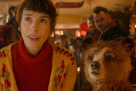 Sally Hawkins as Mrs Brown and Paddington (voiced by Ben Whishaw) in Paddington
