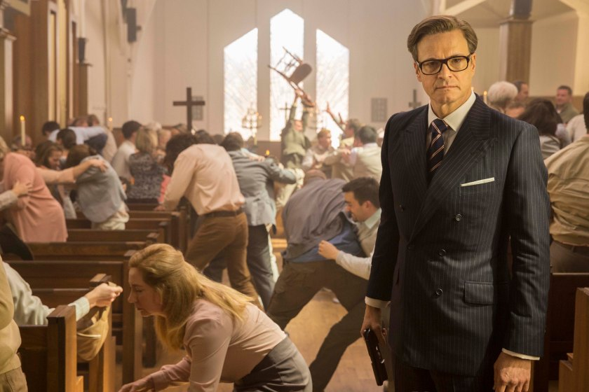 Colin Firth as Harry Hart in Kingsman: The Secret Service