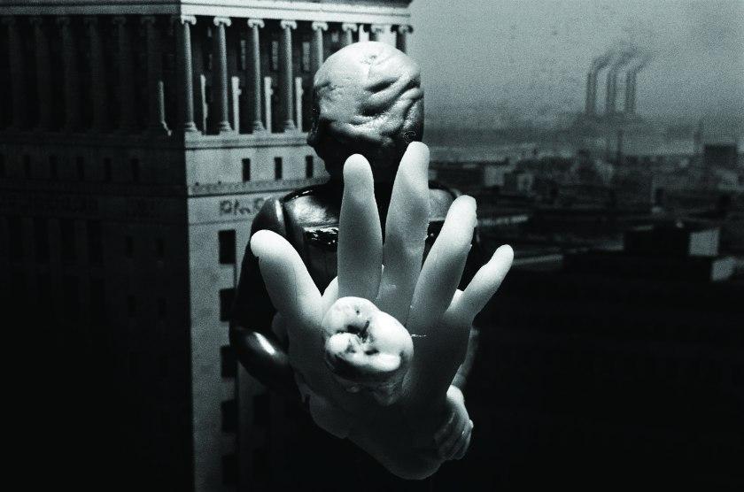 David Lynch, United States b.1946 / Man On Wire 1998 / Archival gelatin silver print, 27.9 x 35.5cm / Courtesy: the artist / © David Lynch