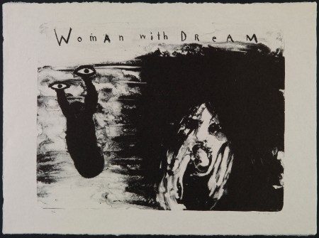 David Lynch, United States b.1946 / Woman with Dream 2007 / Lithograph on Japanese Bunko-Shi paper, 66 x 98 cm / Courtesy: The artist / © David Lynch