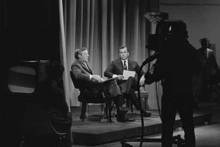 William F Buckley Jr and Gore Vidal in Best of Enemies