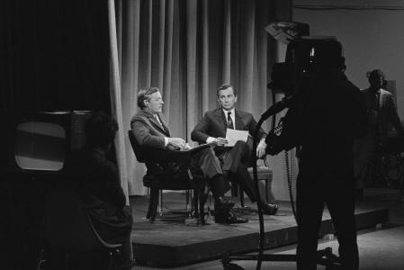 William F Buckley Jr and Gore Vidal in Best of Enemies